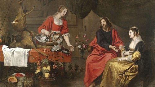 Matthijs Musson (1598-1678) Jesus' visit to Martha and Mary's house (photo © Matthijs Musson)