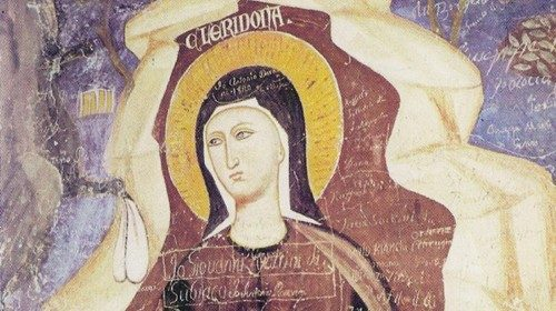Portrait of Saint Chelidonia in Subiaco (13th century)