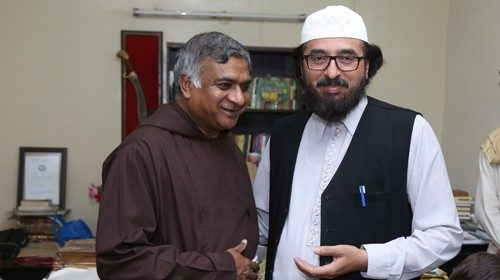 Friar Nadeem (left) with his friend Shafaat Rasool