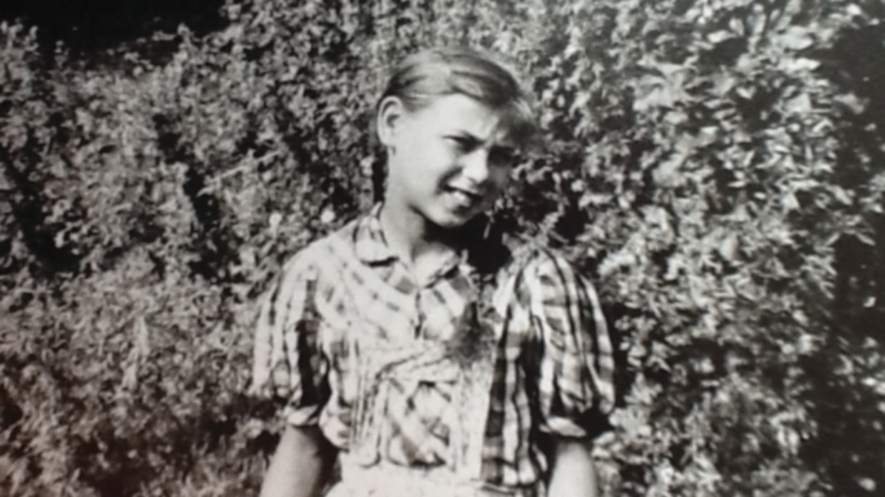 Edith Bruck as a child, shortly before being deported