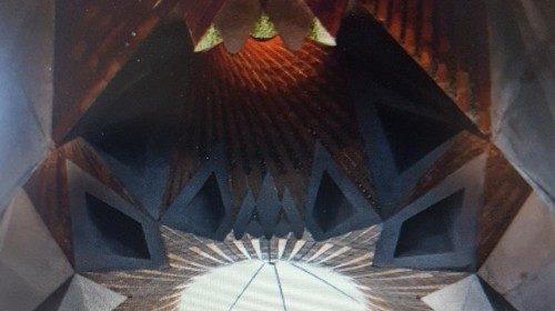 Particolare dell'interno della Sagrada Família