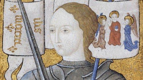 Giovanna in una pittura conservata nel Centre Historique des Archives Nationales, Parigi