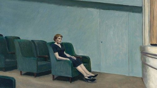 Edward Hopper, «Intermission» (1963, particolare)