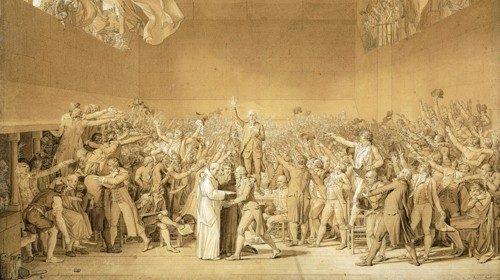 Jacques-Louis David, «Il giuramento della Pallacorda» (1791)