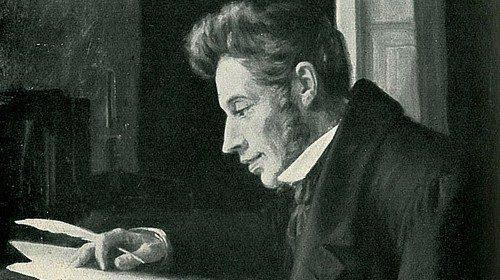 Luplau Janssen «Kierkegaard allo scrittoio» (XIX secolo)
