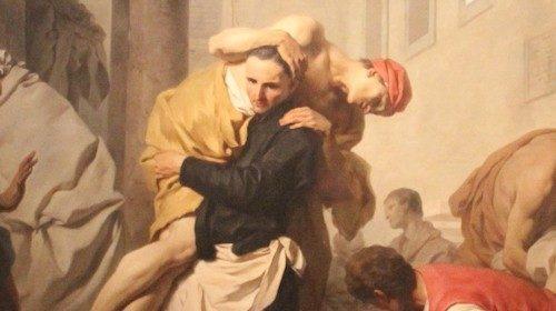 Pierre Subleyras, «San Camillo mette in salvo gli ammalati dell'ospedale Santo Spirito» (1746)
