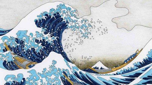Katsushika Hokusai, «La grande onda di Kanagawa» (1830)