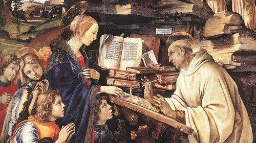 Filippino Lippi, «Apparizione della Vergine a san Bernardo» (1482-1486)
