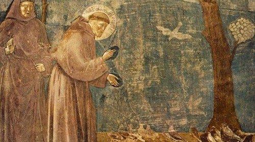 Francesco di Assisi la predica agli uccelli, Giotto