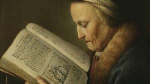 Gerard Dou Elderly Woman Reading the Bible (ca. 1630) Rijkmuseum, Amsterdam (Wikipedia)