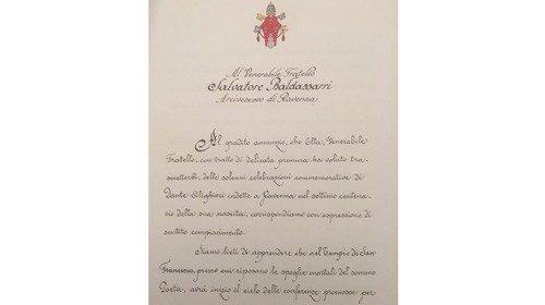 """La prima pagina del """"B re v e """" di Paolo VI (14 marzo 1964)"""