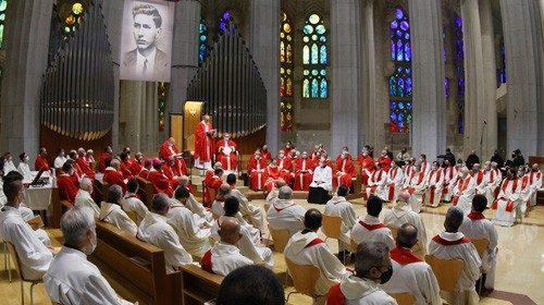Un'immagine della beatificazione (foto di Guillermo Simon Castellví)